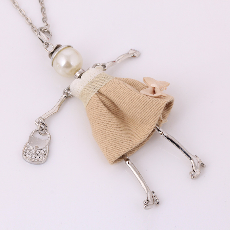statement handmade doll necklaces long chain pendants 2017 alloy new - Fashion Jewelry - Photo 2
