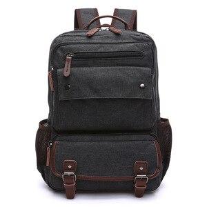 Image 4 - Unisex Vintage Rucksack Männer Reisetaschen Leinwand Tasche Mochila Masculina Laptop Rucksäcke Frauen Schule Tasche für Teenager Zurück Pack