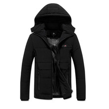 3 Colors New 2019 Casual Classic Winter Jacket Men Warm Padded Hooded Overcoat Fashion Brand Outerwear