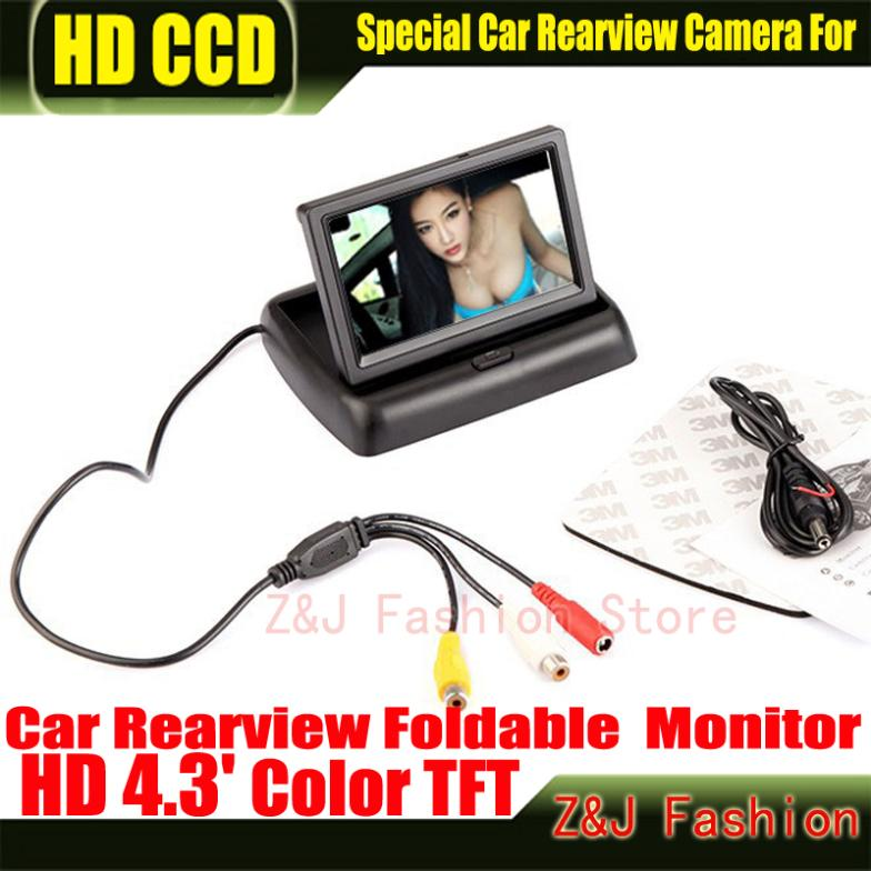 """Hot! 4.3"""" TFT LCD Color Monitor car dashboard safety monitoring of Auto Reversing Parking Foldable Camera Rearview Monitor-in Vehicle Camera from Automobiles & Motorcycles on AliExpress"""
