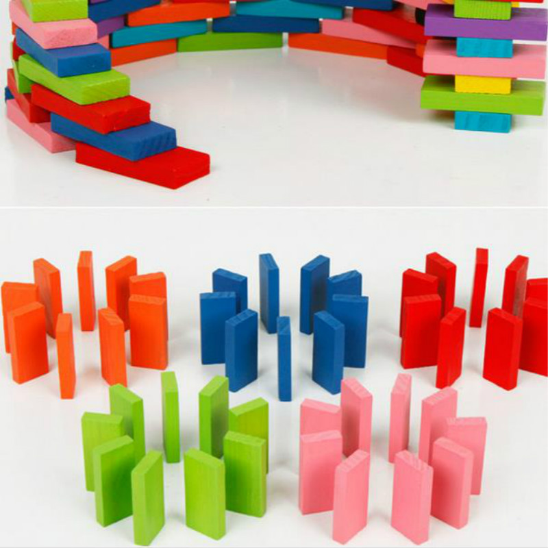 Aliexpress Buy 120pcs Wooden Kids Toy Bright Coloured Tumbling Dominoes Games For Play From Reliable Domino Game Suppliers On Gamesalor Store