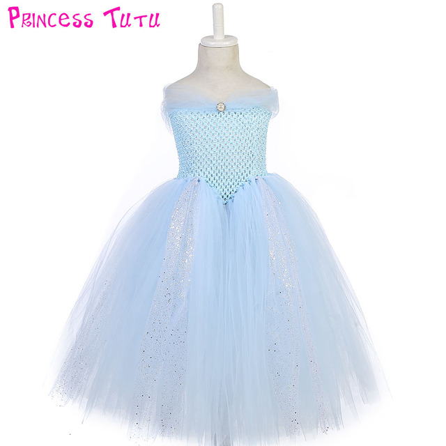 Light Blue V Neck Princess Birthday Party Tutu Dress S Stunning Glittery Sparkle Inspired