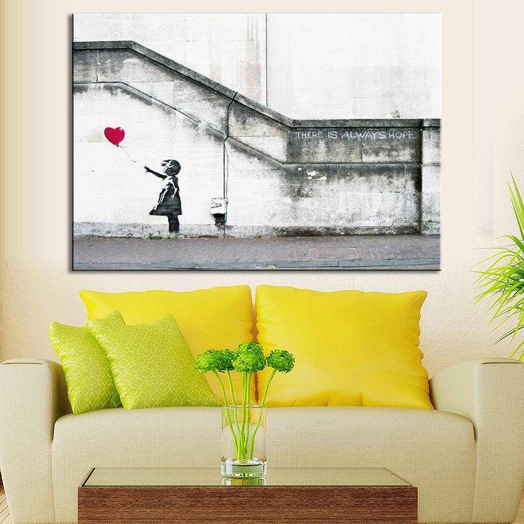 Nice Banksy Wall Art Canvas Elaboration - Gallery Wall Art ...