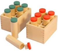 Montessori Baby Educational Wooden Math Teaching Toys Standard receiver edition tube