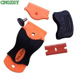 Image 4 - CNGZSY – grattoir à colle en céramique, nettoyeur de vitres, pelle à glace, Film autocollant, spatule détiquettes, outils de nettoyage de voiture K04
