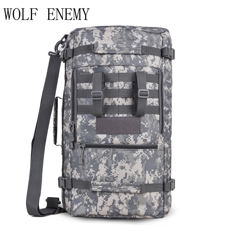 Sport de plein air 50L femmes sac alpinisme tactique sacs à dos randonnée Camping hommes voyage sacs Camouflage sac à dos pour ordinateur portable