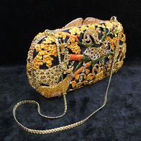 Women Vintage Wristlets Handbag Clutches Wedding Party Yellow Geometric Hot Fixed Crystal Diamond Pyrapurse women's Shoulder bag