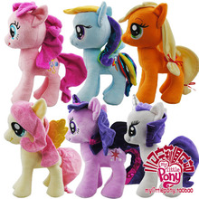6 pieces a set cute plush hosre toys different lovey horse dolls gift about 27cm