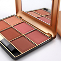 Newest 6 Colors Makeup Blush Pressed Powder Face Blusher Palette High Lighter Concealer Cosmetic Beauty Tools SA Dark Nude Flush