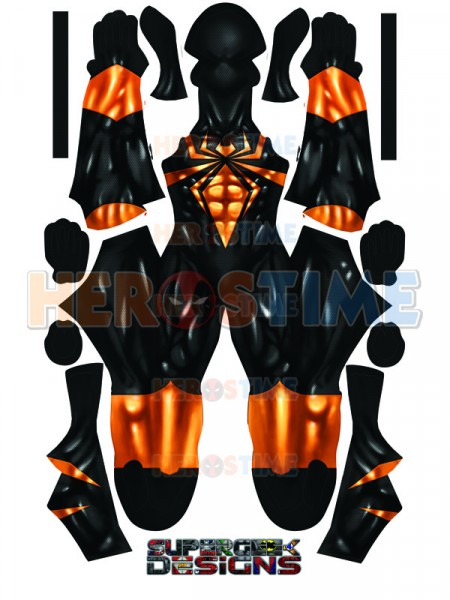 Black Iron Spider-man Costume Spandex Fullbody Iron Spiderman Zentai Superhero Cosplay Costume 3D Printing Halloween Bodysuit