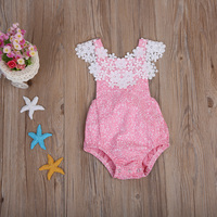 2017 New Toddler Baby Girls Sleeveless Lace Romper Jumpsuit Sunsuit Infant Girls Summer One-Pieces Clothes Outfits