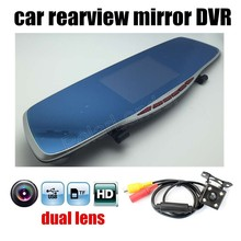 free shipping 4.3″ inch Car Rearview Mirror Vehicle DVR Video Dash Cam Recorder Loop Recording with Rear Camera G-sensor