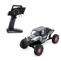 1/10 2.4G 4WD Electric RC Rock Climbing Crawler RC Car Desert Truck Off Road Buggy Vehicle with LED Light RTR Model RC Hobby Toy