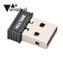 Amzdeal высокоскоростной rtl8188kas USB 150M беспроводной WiFi адаптер Сетевая карта