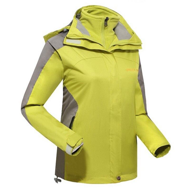 ФОТО AD222 New brand women's sports coat Winter outdoor waterproof waterproof breathable two-in-one woman hiking Ski jacket