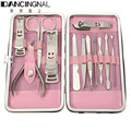 New 12Pcs Professional Nail Clipper Kit Pedicure Scissor Tweezer Knife Ear Pick Portable Utility Manicure Set Nails Care Tools