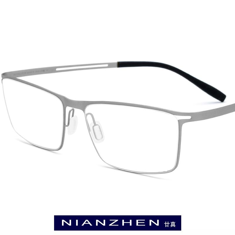 B Titanium Eyeglasses Frame Men 2019 Square Myopia Optical Frames Eye Glasses for Men Memory Light
