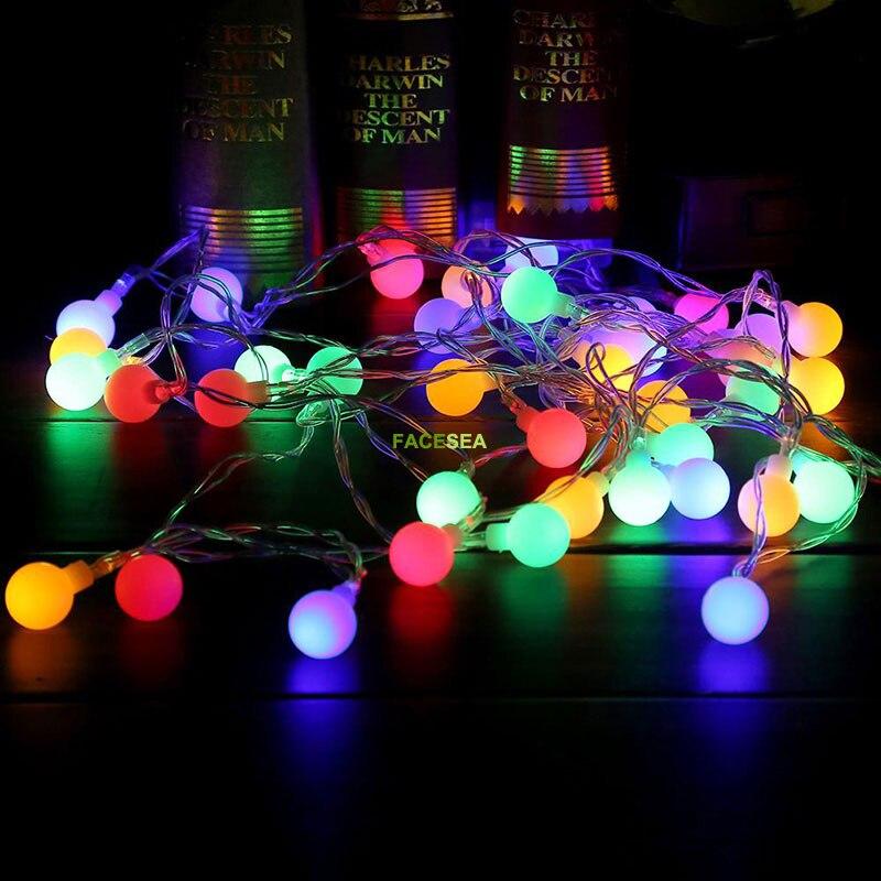 10M 220V vanjski višebojni LED žarulje svjetla božićne lopte - Rasvjeta za odmor - Foto 6