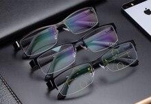Homens óculos de leitura progressiva com lente gradiente anti blue ray uvb  400 de proteção 1a51cbae77