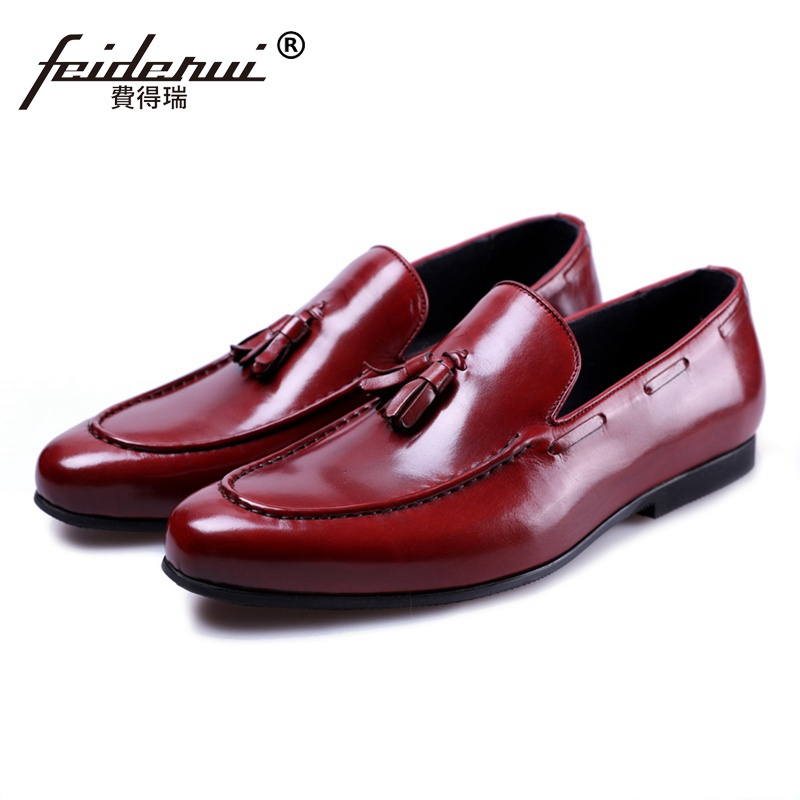 New Arrival Comfortable Man Casual Shoes Genuine Leather Male Tassels Loafers Round Toe Designer Men's Office Footwear JS101 new arrival round toe man casual shoes suede leather comfortable male loafers formal designer brand men s work boat flats mg65