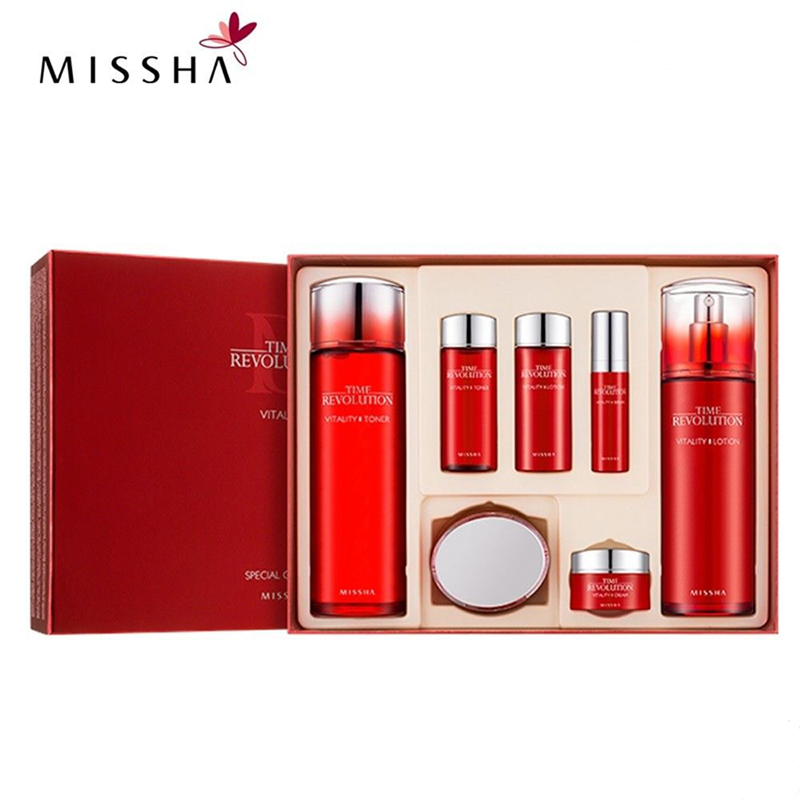 MISSHA Vitality Special Gift Set 3item Anti Wrinkle Cream Firming Essence Whitening Face Serum Korea Cosmetics