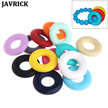 JAVRICK Silicone Beads Pendant Baby Teether Relief Pain DIY Necklace Decor Safety