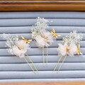 3pc Bee Flower Hair Pins Jewelry Wedding Hair Accessories Bride Headdress Bijoux Pince Cheveux Tocados Para Novias WIGO0973