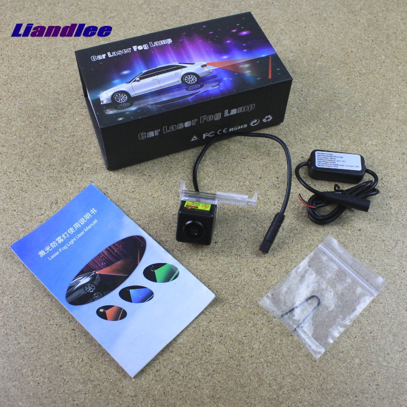 Liandlee Car Tracing Cauda Laser Light For Peugeot 308 2012 2013 Modified Special Anti Fog Lamps Rear Anti-collision Lights speed test counting module for smart tracing car yellow