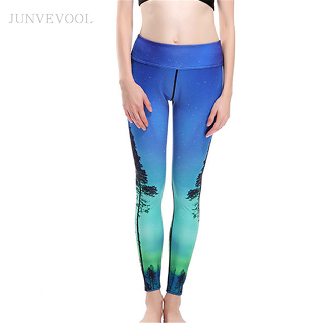 fa49c7f918f93 Novelty 3D Printed Workout Pant Women Leggings Galaxy Sexy Trees Printing  Sexy Cropped Rock Funky Capris Punk Hot Legins