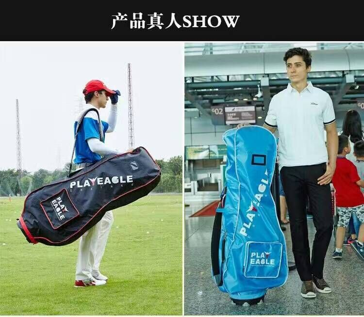 cc823b96b69a US $9.4 6% OFF|PLAYEAGLE Golf Bag Rain Cover Double Zipper Light Weight  Golf Travel Cover Bag Fits Most Golf Bag,51X9.44X20inch-in Golf Bags from  ...