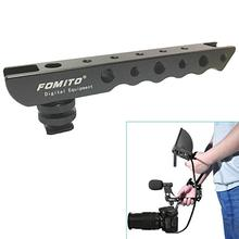 Get more info on the Fomito Hand-held Shooting Handle Cold Shoe Extender Video Stabilizing Aluminum for Canon EOS Nikon DSLR Camera etc