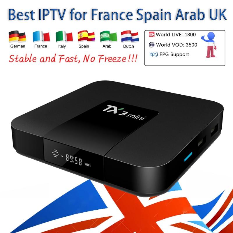 Procaja IPTV Abonnement 1000 + Canaux avec Android TV Box smart tv France Arabe Espagne ROYAUME-UNI Néerlandais Allemand Italie En Direct canaux