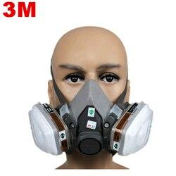 Arbeitsschutz 6200 Anzüge Atemschutzmaske Gasmaske Chemische Maske Spray Chemische Staubfilter Atmen Maske Farbe Staub Halb Gasmaske