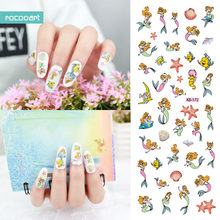 Rocooart KB172 Nail Art Stickers Tips Decoration Nails Wraps Beauty Makeup Harajuku Element fish Women Water Transfer Sticker(China)