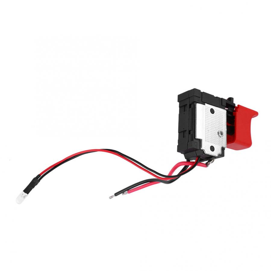 Black Adjustable Speed CW/CCW Electric Drill Trigger Switch 7.2V-24V DC