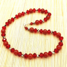 Natural Stone Necklace Carnelian Red Color Agate Stone Bead Necklace Sweater Jewelry Gift Crystal Jewelry недорого
