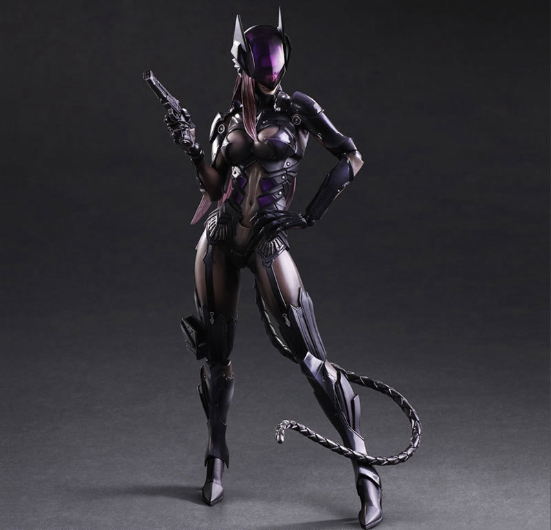 Play Arts Kai Catwoman Figure Cat Girl PA Bat Man Selina Kyle PA 27cm PVC Action Figure Doll Toys Kids Gift Brinquedos
