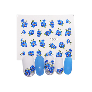Image 4 - Full Beauty 40pcs Nail Sticker Flower Butterfly Rose Water Transfer Decals For Nail Art Sliders Set Foils Decoration CH1051 1100