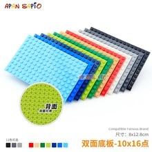 Bricolage blocs briques de Construction plaques de base 10x16 Assemblage éducatif Construction jouets pour enfants compatibles avec les marques