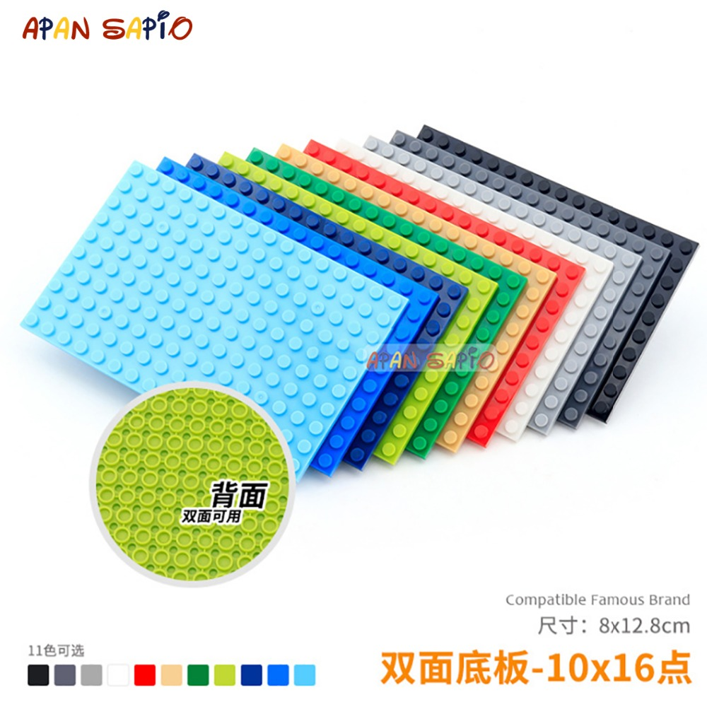 DIY Blocks Building Bricks Baseplates 10x16 Educational Assemblage Construction Toys For Children Compatible With Brands