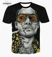 YNM Inked Fear And Loathing T Shirt Tattooed Johnny Depp Raoul Duke 3d T Shirt Women