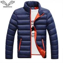 VISADA JAUNA 2019 männer Unten Baumwolle Jacke Mantel Soild Farbe Marke Wilden Padded Herbst Winter Männlichen Mode Großen Größe 6XL N5107