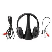 5 In 1 Wireless Stereo Headset Headphone Transmitter FM Radio For TV DVD MP3 PC