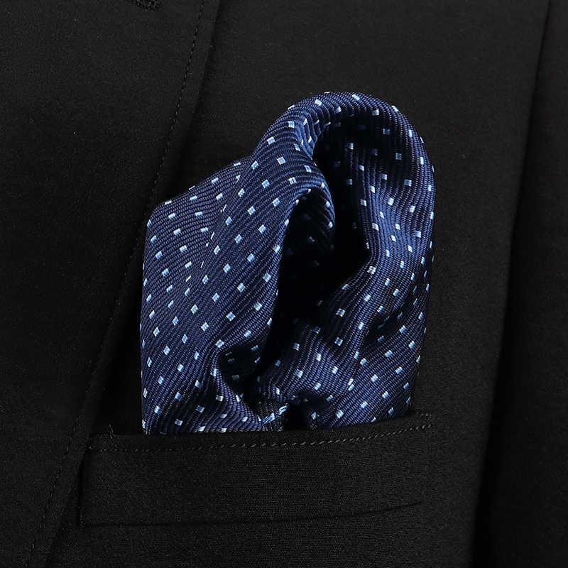 Vangise رجالي جيب المربعات الصلبة نمط الأزرق منديل منديل الموضة للرجال بدلة عمل اكسسوارات 22 سنتيمتر * 22 سنتيمتر
