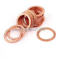 20mm X 26mm X 1 5mm Metric Ring Shape Copper Flat Washer 20 Pcs