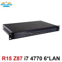 Настольных компьютеров сервер 1U брандмауэр pfsense Firewall маршрутизатор с 6 Gigabit LAN Intel 4 ядра i7 4770 3,9 ГГц Wayos PFSense ROS поддержка