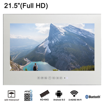 """Souria 21.5"""" Magic Smart WiFi Android Mirror 1080P HD LED Waterproof TV Kitchen Sauna Television Wall Mount"""