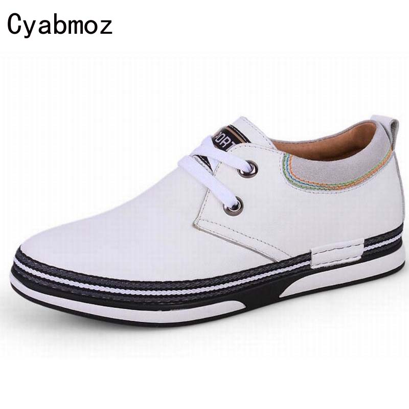Фотография height increasing shoes for men 5cm new fashion lace up casual shoes men