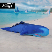 Dropshipping millffy realistic Sperm Whale plush toy soft toy lifelike cachalot doll pillow stuffed animals peluche for kids
