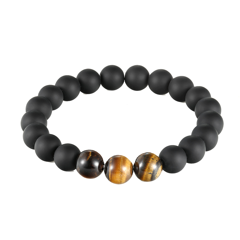 JAAFAR 2018 Natural stone bracelet! Tiger Eye Charm Bracelet 10mm Eye Pad Stone Tiger Stone Pearl Bracelet AS230